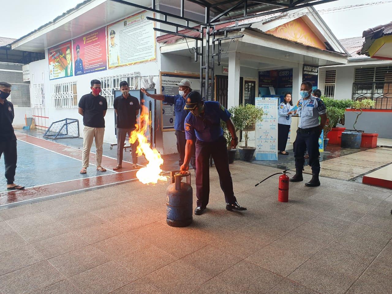Lapas Bagansiapi Gelar Edukasi Pencegahan Kebakaran