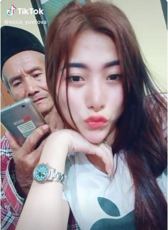 Video Mesra Wanita Muda bersama Kakek Tua, Viral di Media Sosial