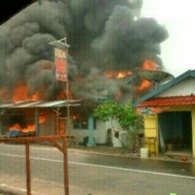 5 Unit Rumah Warga di Tembilahan Ludes Terbakar