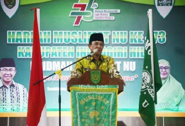 HARLAH ke-73 Momentum Kebangkitan Muslimat NU di Inhil